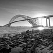 Bayonne Bridge Black And White Poster