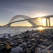 Bayonne Bridge Sunset Poster