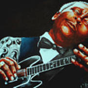 Bb King Of The Blues Poster by Richard Klingbeil