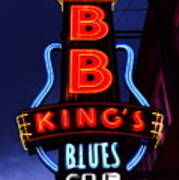 B B King's Blues Club Poster