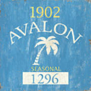 Beach Badge Avalon Poster
