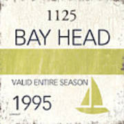 Beach Badge Bay Head Poster