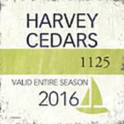 Beach Badge Harvey Cedars Poster