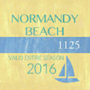 Beach Badge Normandy Beach 2 Poster
