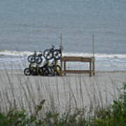 Beach Bicycles Poster