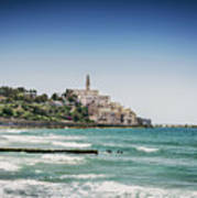 Beach By Jaffa Yafo Old Town Area Of Tel Aviv Israel Poster
