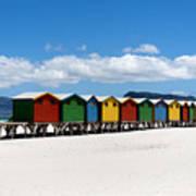 Beach Cabins  Poster by Fabrizio Troiani