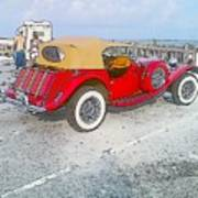 Beach Car Poster