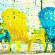 Beach Chair Print Poster