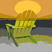 Beach Chair Work Number Seven Poster