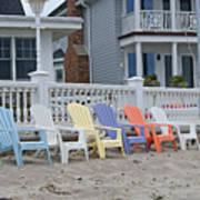 Beach Chairs - Awaiting Summer Poster