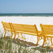 Beach Chairs By Darrell Hutto Poster