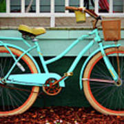 Beach Cruiser Bike Poster