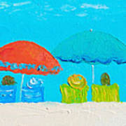Beach Decor - Umbrellas Panorama Poster