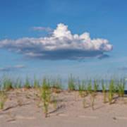 Beach Dune Clouds Jersey Shore Poster