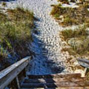 Beach Footprints - Boca Grande Florida Poster