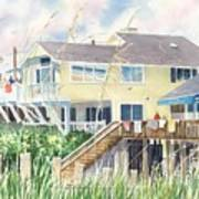 Beach House At Wrightsville Beach Poster