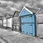 Beach Hut In Isolation Poster