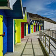 Beach Huts At Barry Island Poster