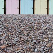 Beach Huts X Poster