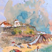 Beach In Ericeira In Portugal Poster