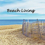 Beach Living Poster