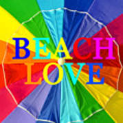 Beach Love Umbrella Spca Poster