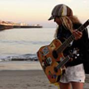 Beach Musician Poster