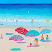 Beach Painting - A Golden Day Poster