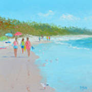 Beach Painting 'beach Strolling' By Jan Matson Poster