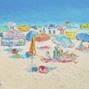 Beach Painting - Crowded Beach Poster