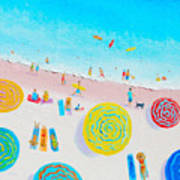 Beach Painting - Lazy Lingering Days Poster
