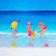 Beach Painting - Water Play  Poster