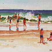 Beach Scene, Afternoon Poster