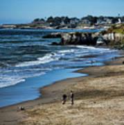 Beach Scene California  Poster