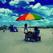 Beach Scene Pawleys Island Sc Poster
