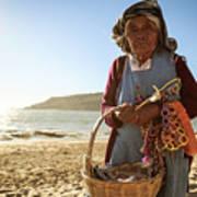 Beach Seller Poster