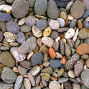Beach Stones And Pebbles Poster by Sophie De Roumanie
