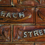 Beach Street Sign Nyc Poster