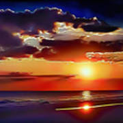 Beach Sunset 5184 Poster