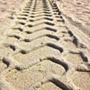 Beach Tracks Poster