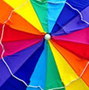 Beach Umbrella Panoramic Poster