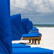 Beach Umbrellas 3 By Darrell Hutto Poster