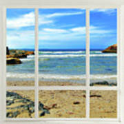 Beach View From Your Living Room Window Poster