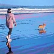 Beach Walk V.4 Poster