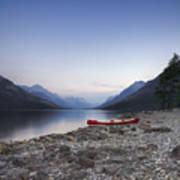 Beached Canoe Awaits Nightfall Poster by Royce Howland