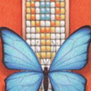 Beaded Morpho Poster