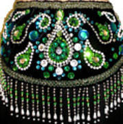 Beadwork And Rhinestones. Belly Dance Fashion Poster