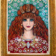 Sarah Goldberg Beauty Queen. Beadwork Poster