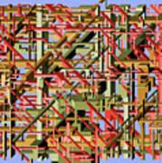 Beams Abstract Art Poster
